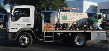 Always Green Application delivery Truck